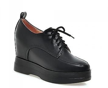 OL Mocasines Hospital Enfermera Lace-up Ascensor Zapatos De Ronda-dedo del pie Mujeres Casual Oficinas De Boda Vintage Zapatos Europa Tamaño Personalizado ...