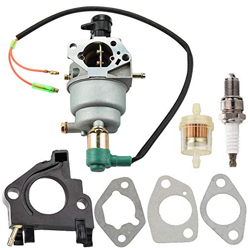Leopop Carburetor with Gasket Spark Plug Fuel Filter for All Power America APG3009 APG3009C APG3009N APG3075 APGG6000 6000 7500 Watts Gasoline Parts Kit Carb Engine Generator