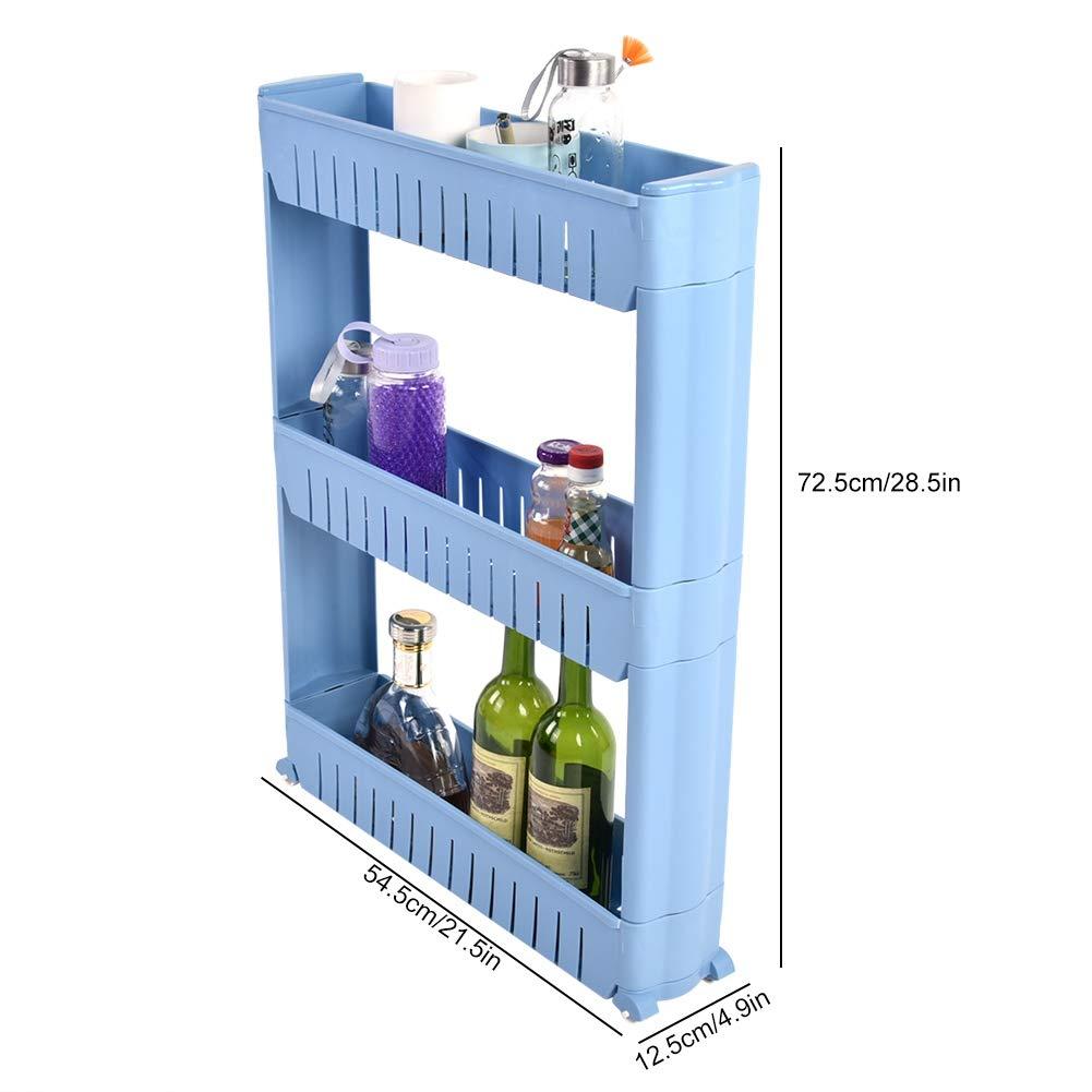 Blue Aufee Kitchen Stand Shelf kitchen Rack Organiser 54.5 x 12.5 x 72.5 cm Storage use for bathroom kitchen
