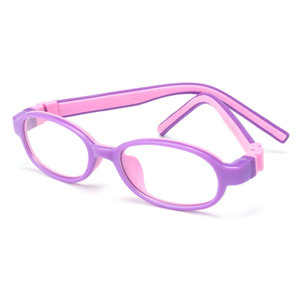 2d3d38d645f Amazon.com  Fantia Children Two - color Soft Silicone Amblyopia Eyeglasses  Frames Optical Eyewear (C1)  Clothing
