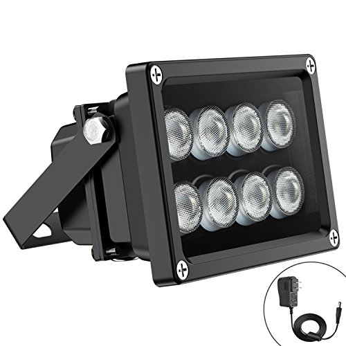 or 90 Degree Wide Angle 8-Leds IR Infrared Light for Security Cameras. (Infrared Floodlight)