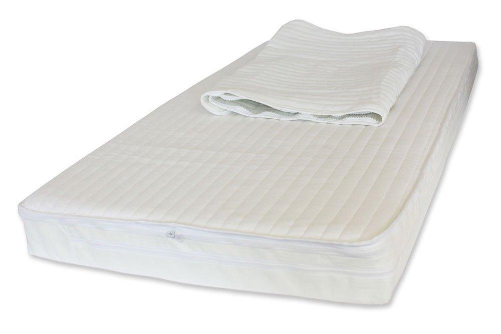 NightyNite Sleepeezi Easychange Foam Cot Mattress with 2 Luxurious Easychange MicrofibreToppers and Waterproof Protection (120 x 60 x 10 cm) SECGM2