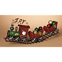GIL 2214860 29.5 L Metal Red Holiday Train Christmas, 29InL x 8InW x 12InH, Multicolor