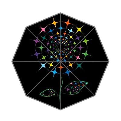 Parapluie pliant léger avec motif fleur abstrait