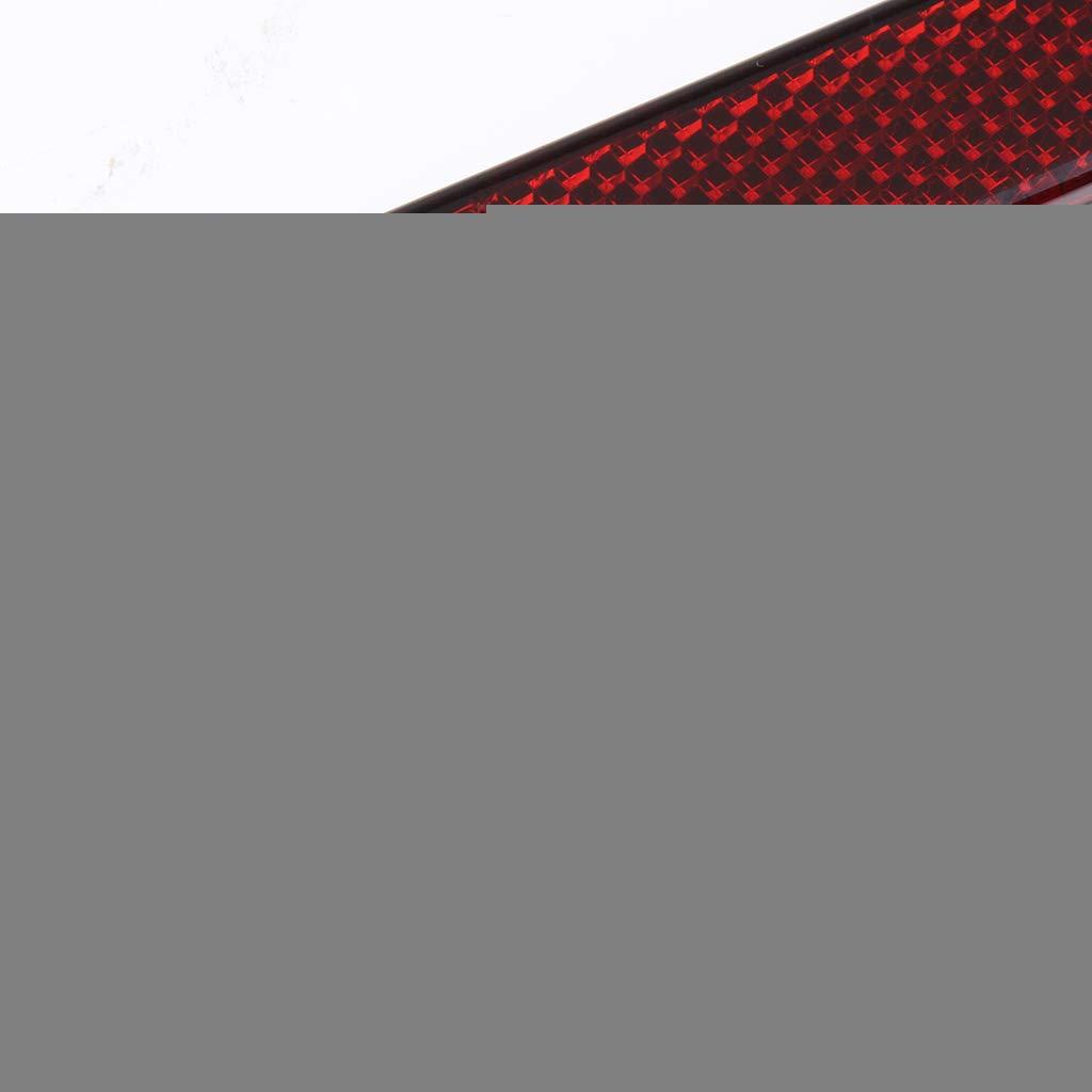 Catarifrangenti Autoadesivi per Pezzi di Ricambio per Motocicli Almencla 2 Pezzi Riflettore Moto Rosso