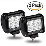 Automotive : LED Lights Bars, LED Pod Lights 4inch 18W for Jeep Wrangler TJ,CJ,JK-JKU,YJ LED Spotlight Rock Lights Flood Lights for Truck, SUV Spot Lights for Ford