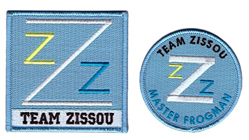 Bill Murray Life Aquatic Costume (Set of 2 - Master Frogman Team Zissou Cosplay Costume Patch Set)