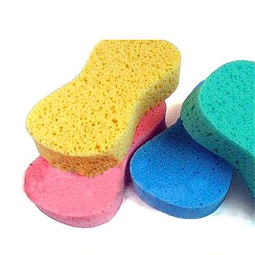 5pcs Retain Absorbent Compress Auto Car Motor Wash Rinse Clean Expanding Sponge Foam Random Color