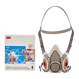 MMM6100 - 3m Half Facepiece Respirator 6000 Series