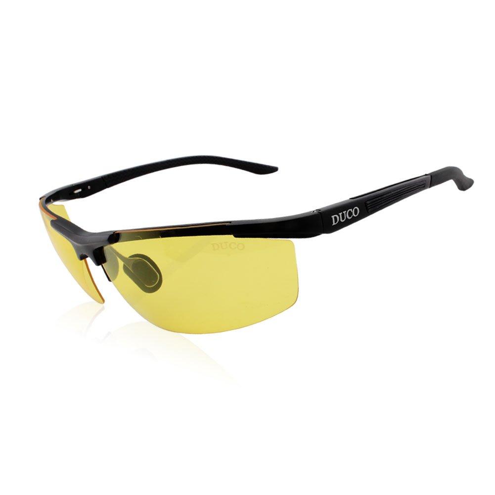 d360980cfbb7 Galleon - Duco Night-vision Glasses Anti-glare Driving Polarized New Design  Eyewear 8530 (Black Frame