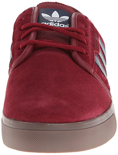 Adidas Performance Seeley Skate Shoe,ash Grey/white/black,4 M Us Cardinal/Collegiate Navy/Gum