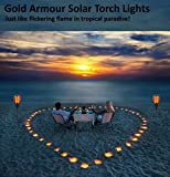 51lXQKEvnhL. SL160  - Gold Armour 2PACK/4PACK Solar Lights Outdoor - Flickering Flames Torch Lights Solar Light - Dancing Flame Lighting 96 LED Dusk to Dawn Flickering Tiki Torches Outdoor Waterproof Garden