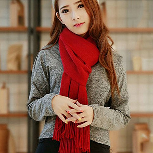 KAKA(TM Women's Korean Artistic Stylish Winter Colorful Knitting Wool Scarves Oversized Dual Using Scarf Shawl 21 Colors