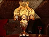 MILUCE European Style Table Lamp Princess Pastoral Bedroom Bedside Lamp Wedding Decoration Lamp