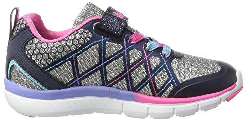 Lico Princess Vs, Zapatillas Para Niñas Plateado (Silber/marine/pink)
