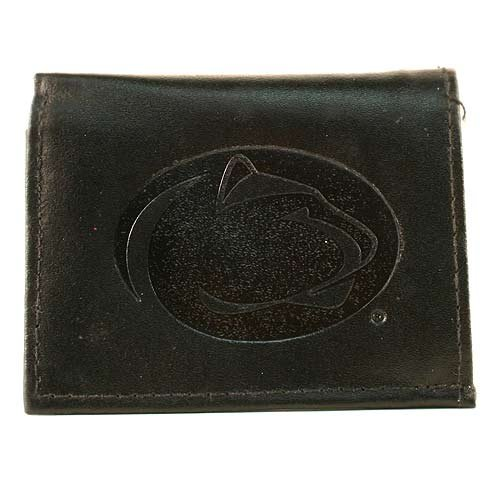NCAA Penn State Nittany Lions Tri-Fold Leather Wallet, Black