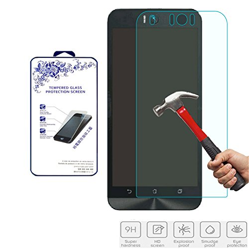 For Asus Zenfone Selfie ZD551KL Tempered Glass Screen Protector, Nacodex HD Tempered Glass Screen Protector Film Guard Shield, 0.3mm 2.5D (ASUS Zenfone Selfie)