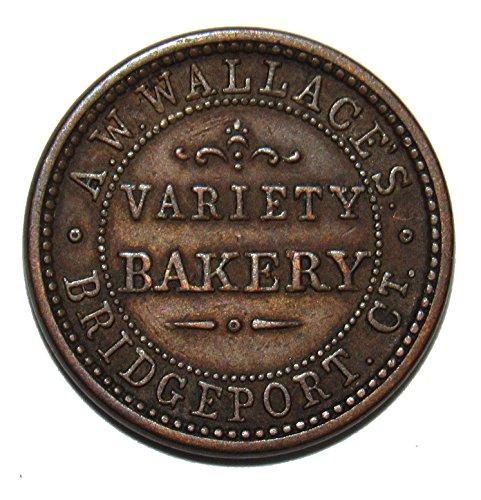 1863 A.W. Wallace's Variety Bakery Civil War Token (1863 Civil War Token)