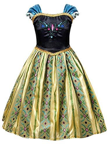 (Rizoo Anna Coronation Dress Halloween Costumes Princess Birthday Party Dress Up Dark Blue)