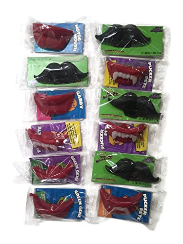Wack-O-Wax Lips, Fangs & Mustaches Variety Set [4 of each type] -