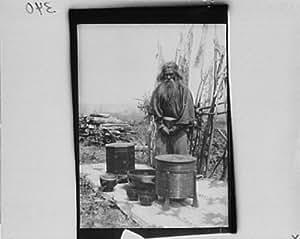 amazoncom 1908 photo ainu man standing outdoors on a mat