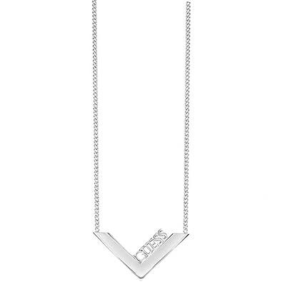 c0d90fc725aa Collier Guess Triometric métal rhodié UBN82085  Guess  Amazon.fr  Bijoux