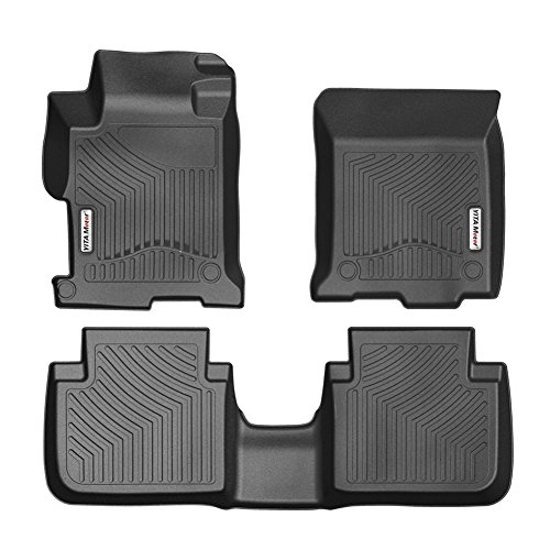 YITAMOTOR Floor Mats Compatible for 2013-2017 Honda Accord Sedans, Front and Rear 2 Rows All Weather Heavy Duty Rubber Car Floor Liners, Black