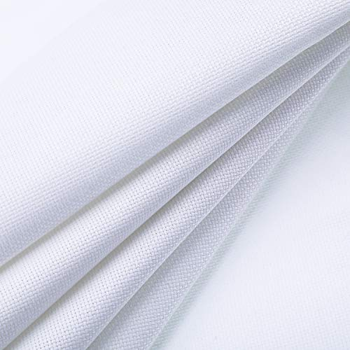 Norme 18 Count Cross Stitch Fabric White Aida Cloth Embroidery Stitching Cloth for Embroidering Sewing, 58 by 39 - 18k Cross White