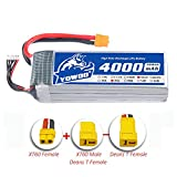 YoWoo 5S Lipo Battery 18.5V 4000mAh 35C-70C for RC Helicopter Boat Quadcopter Airplane with XT60 and Deans Style T Plug(5.31x1.65x1.73in 1.15lb)