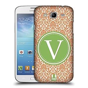 Head Case Designs Letter V Cases Protective Snap-on Hard Back Case Cover for Samsung Galaxy Mega 5.8 I9150 I9152