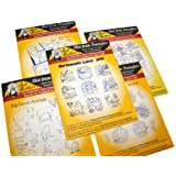 Aunt Martha's Iron On Transfer Patterns for Stitching, Embroidery or Fabric Painting, Nature Patterns for Tea Towels or Quilting, Set of 5