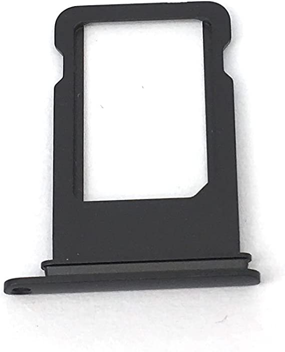Jet Black with Glue Card SIM Card Holder for Apple iPhone 7 CDMA /& GSM