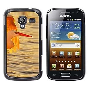 LECELL--Funda protectora / Cubierta / Piel For Samsung Galaxy Ace 2 I8160 Ace II X S7560M -- Stork Ocean Sun Sunset Summer --