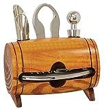 wine barrel accessory kit - Old Fashion Barrel 4-Piece Wine Tool Set Gift Accessories Corkscrew Kit