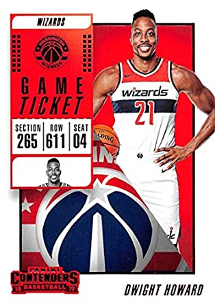 87250ee28a3 2018-19 Panini Contenders Game Ticket Red #89 Dwight Howard Washington  Wizards