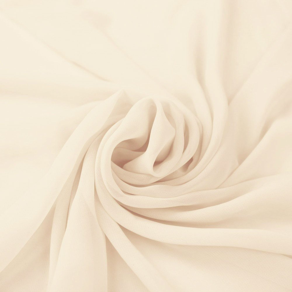 Chiffon Fabric - Lightweight - 60''W - Perfect for Venue Decorations & Apparel - 10 Yards (Ivory) by FabricLA (Image #1)