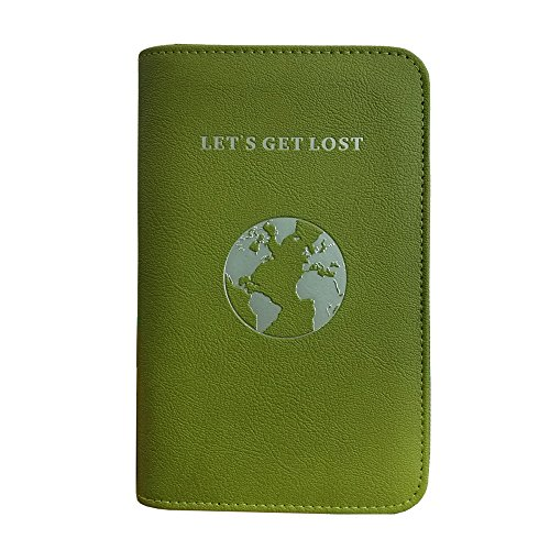 Phone Charging Passport Holder -Multiple Variations with Upgraded Power Bank- RFID Blocking - Travel Wallet Compatible with All Phones - Travel Accessories (Olive)