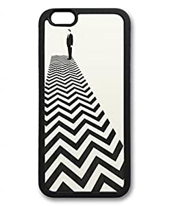 iPhone 6 Case, iCustomonline Twin Peaks Minimalist Poster Designs Case for iPhone 6 (4.7 inch) Rubber Black