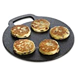 Traditional Cast Iron 27cm Black Baking Stone (Pack of 2)