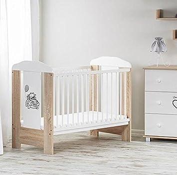 Dunkelbraun Holz Baby Kinderzimmer Babybett (120 x 60 cm) – Auto ...