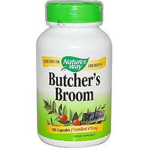 Amazon Com Nature S Way Butcher S Broom Root Capsules