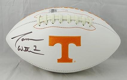 on sale 6e8c5 34b14 Jason Witten Autographed Tennessee Volunteers Logo Football ...