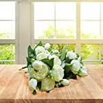 Artificial-Flower-Fake-Silk-Peony-Flowers-Wedding-Bouquet-Bridesmaid-Bridal-Party-Centerpieces-Decoration-Ivory-4-Pack