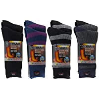2 Pairs of Thick Heat Trapping Insulated Heated Boot Thermal Socks Pack Warm Winter Crew For Cold Weather