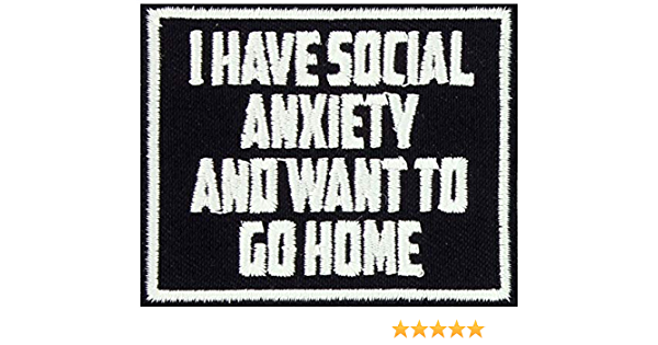 30 Pcs Embroidered Iron on patches Social Anxiety AP025sX