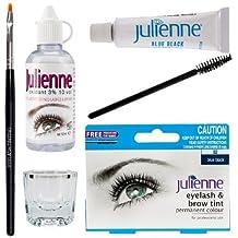 Julienne Eyelash Eyebrow Tint Tinting Kit Dye Blue Black Tint Brush Dish Oxidant by Julienne