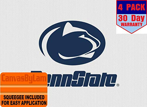4 Inch Penn State 4 Toes Paw Logo Decal Flag Nittany Lions Pennsylvania University PSU Removable Repositionable Peel Self Stick Wall Sticker Art NCAA Home Room Decor 4 by 4 inches