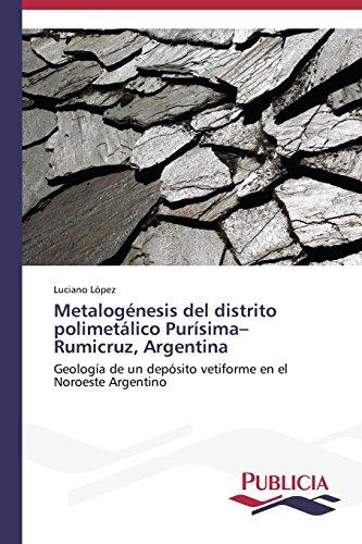Descargar Libro Metalogénesis Del Distrito Polimetálico Purísima-rumicruz, Argentina López Luciano