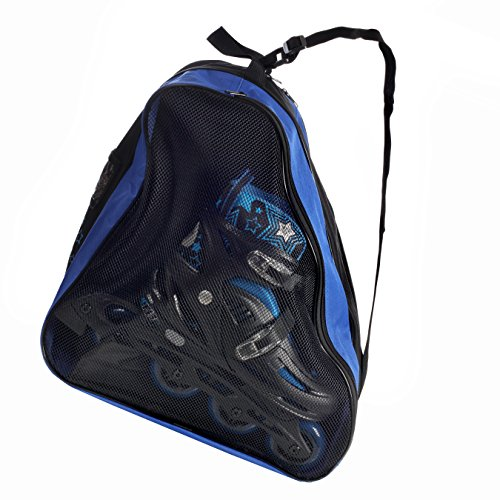 High Bounce Rollerblades Bag, Hockey Skate Figure Shoes Case Roller Holder Inline & Helmet (Blue & Black) - In Line Hockey Helmets