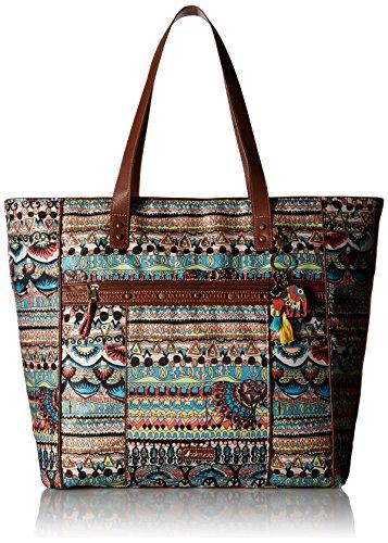 sakroots-womens-kota-nylon-travel-shoulder-bag-natural-one-world-size